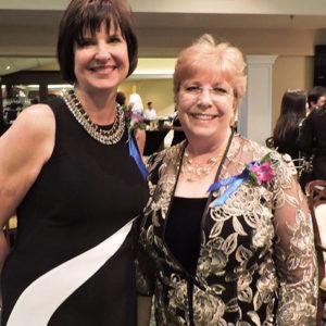 Volunteer winner Janice Norman and Jeanine Webster